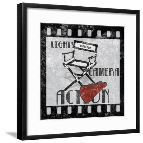 Lights Camera Action-Hugo Wild-Framed Art Print