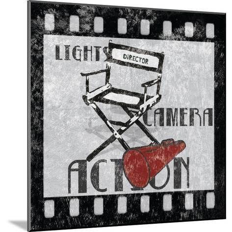 Lights Camera Action-Hugo Wild-Mounted Art Print