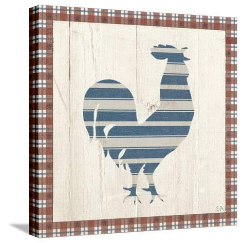 Americana Rooster-Sarah Adams-Stretched Canvas Print