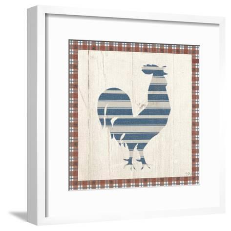 Americana Rooster-Sarah Adams-Framed Art Print