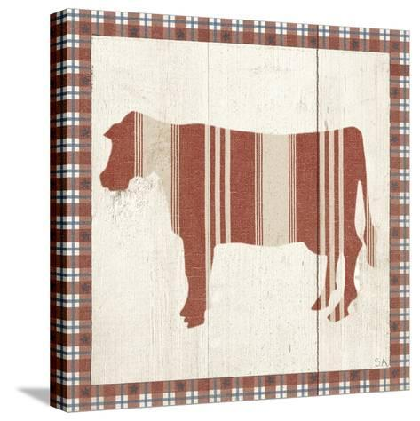 Americana Cow-Sarah Adams-Stretched Canvas Print