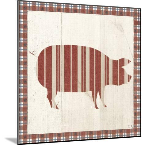 Americana Pig-Sarah Adams-Mounted Art Print