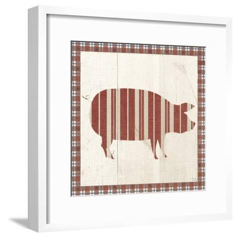Americana Pig-Sarah Adams-Framed Art Print