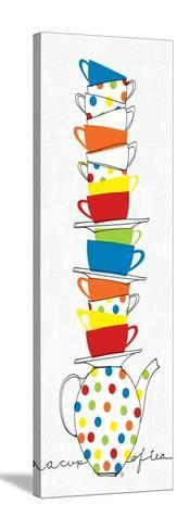 Stacks of Cups I-Avery Tillmon-Stretched Canvas Print