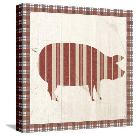 Americana Pig-Sarah Adams-Stretched Canvas Print