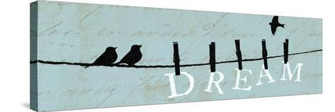 Birds on a Wire-Pela Design-Stretched Canvas Print