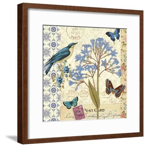 Blue Notes I-Pela Design-Framed Art Print