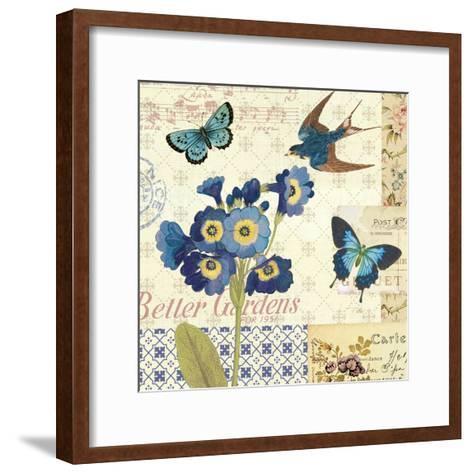 Blue Notes IV-Pela Design-Framed Art Print