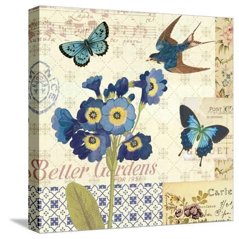 Blue Notes IV-Pela Design-Stretched Canvas Print