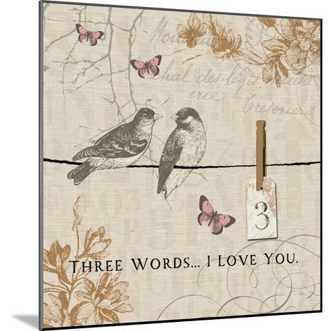 Words that Count III-Pela Design-Mounted Premium Giclee Print
