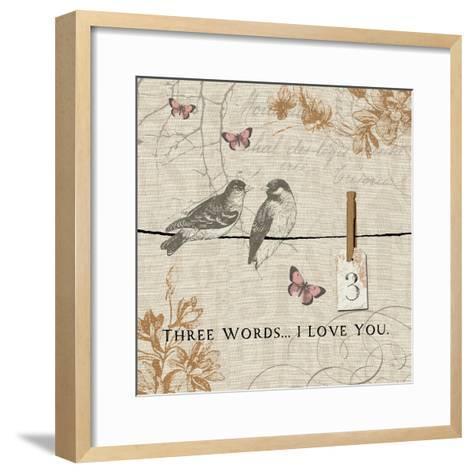Words that Count III-Pela Design-Framed Art Print