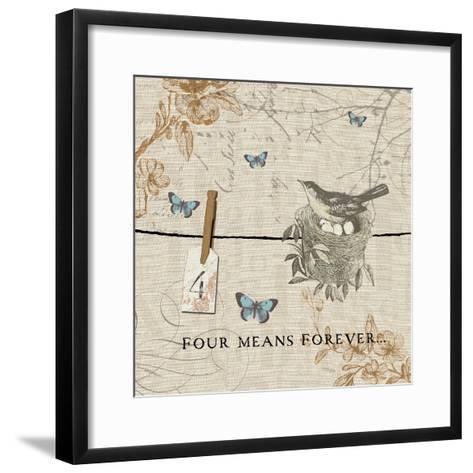 Words that Count IV-Pela Design-Framed Art Print