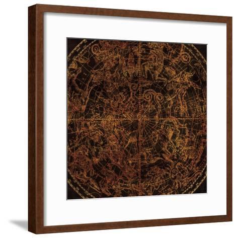 Northern Celestial Sphere Vintage-Hugo Wild-Framed Art Print