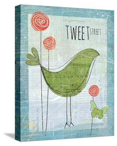 Tweet Street-Belinda Aldrich-Stretched Canvas Print
