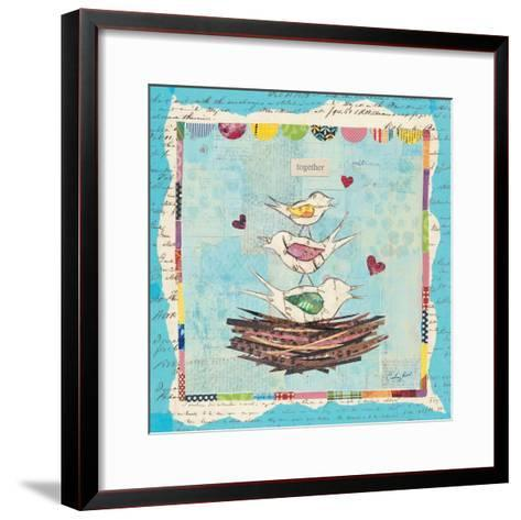 Family of Love Birds-Courtney Prahl-Framed Art Print