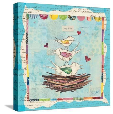 Family of Love Birds-Courtney Prahl-Stretched Canvas Print