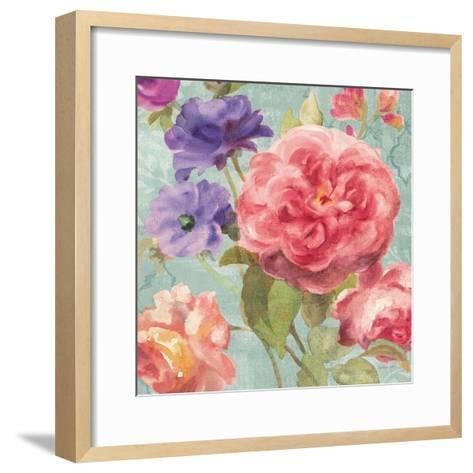 Watercolor Floral II on Grey-Danhui Nai-Framed Art Print
