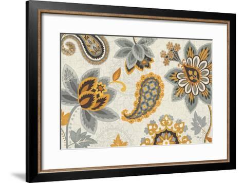 Decorative Nature I Yellow Gray Cream-Pela Design-Framed Art Print