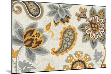 Decorative Nature I Yellow Gray Cream-Pela Design-Mounted Premium Giclee Print