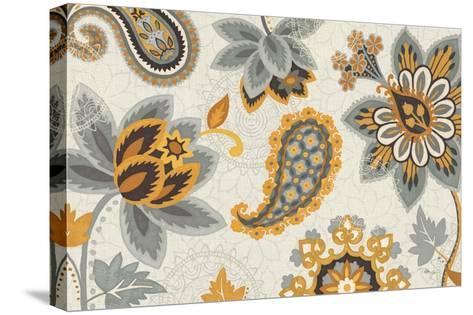 Decorative Nature I Yellow Gray Cream-Pela Design-Stretched Canvas Print