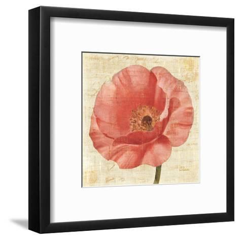 Blushing Poppy on Cream-Albena Hristova-Framed Art Print