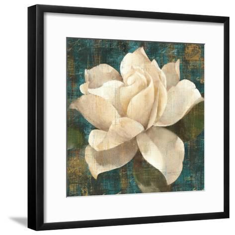 Gardenia Blossom Turquoise-Albena Hristova-Framed Art Print