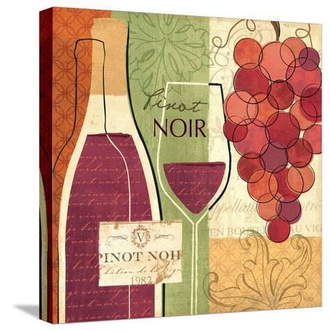 Wine and Grapes I-Veronique Charron-Stretched Canvas Print