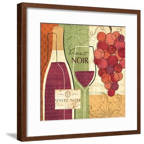 Wine and Grapes I-Veronique Charron-Framed Art Print