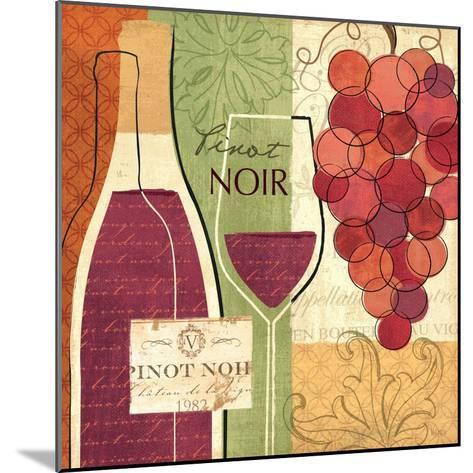 Wine and Grapes I-Veronique Charron-Mounted Art Print