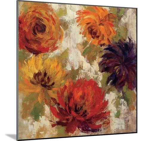 Fiery Dahlias II--Mounted Art Print