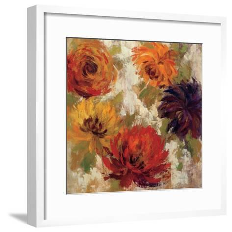 Fiery Dahlias II--Framed Art Print