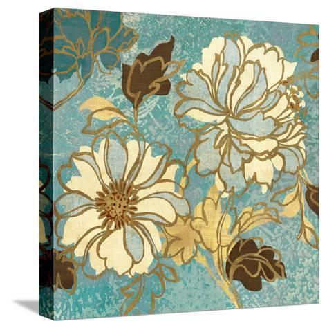 Sophias Flowers I Blue-Hugo Wild-Stretched Canvas Print