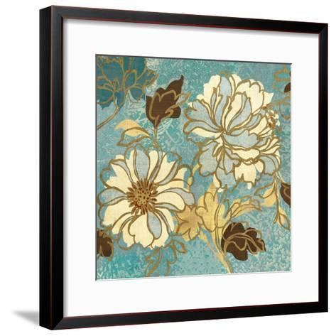 Sophias Flowers I Blue-Hugo Wild-Framed Art Print