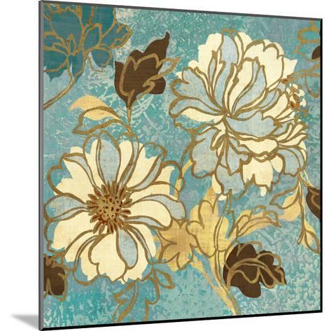 Sophias Flowers I Blue-Hugo Wild-Mounted Premium Giclee Print