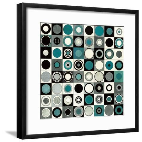 Carnaby Street Blue-Hugo Wild-Framed Art Print