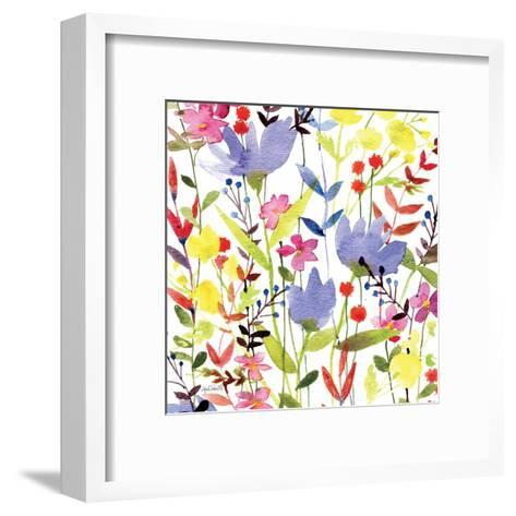 Annes Flowers Crop I-Anne Tavoletti-Framed Art Print