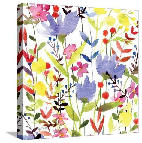 Annes Flowers Crop I-Anne Tavoletti-Stretched Canvas Print
