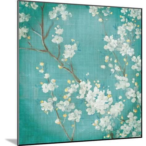 White Cherry Blossoms II on Blue Aged No Bird-Danhui Nai-Mounted Art Print