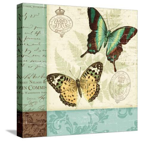 Butterfly Patchwork I-Pela Design-Stretched Canvas Print