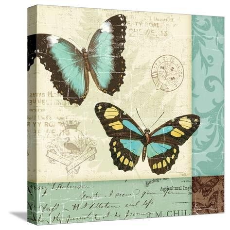 Butterfly Patchwork II-Pela Design-Stretched Canvas Print