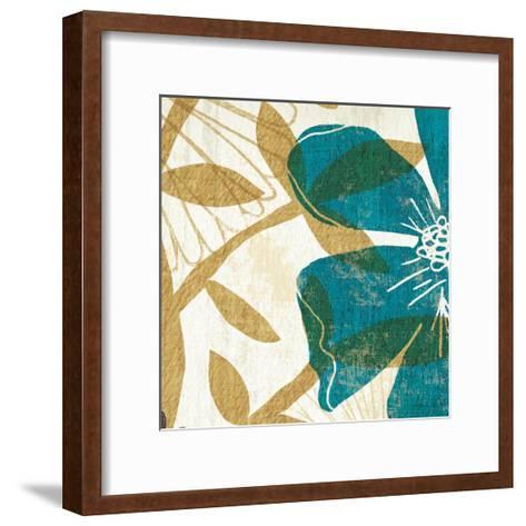 Floral Burst Square I--Framed Art Print