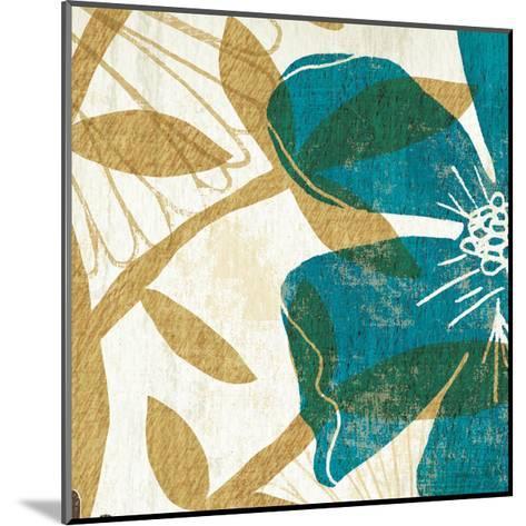 Floral Burst Square I--Mounted Art Print