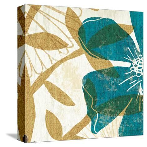 Floral Burst Square I--Stretched Canvas Print