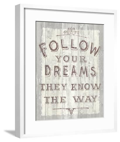 Follow Dreams Driftwood-Sue Schlabach-Framed Art Print