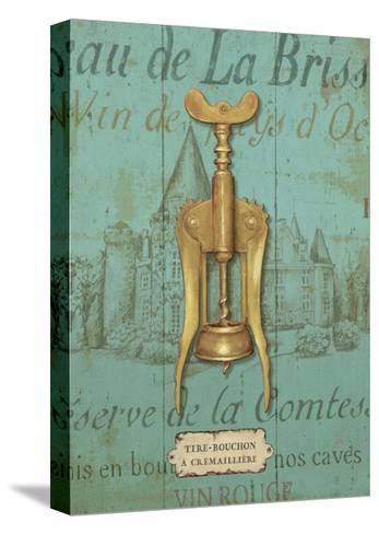 Antique Corkscrew III Blue-Daphne Brissonnet-Stretched Canvas Print