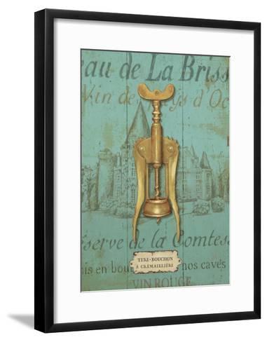Antique Corkscrew III Blue-Daphne Brissonnet-Framed Art Print