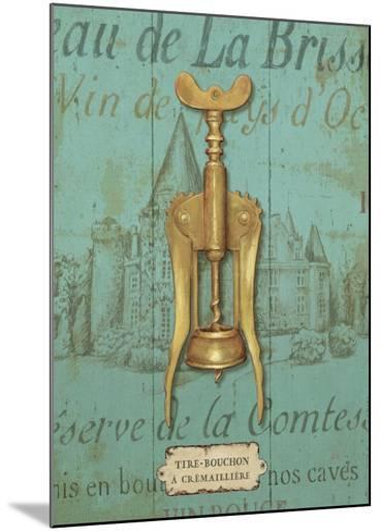 Antique Corkscrew III Blue-Daphne Brissonnet-Mounted Art Print
