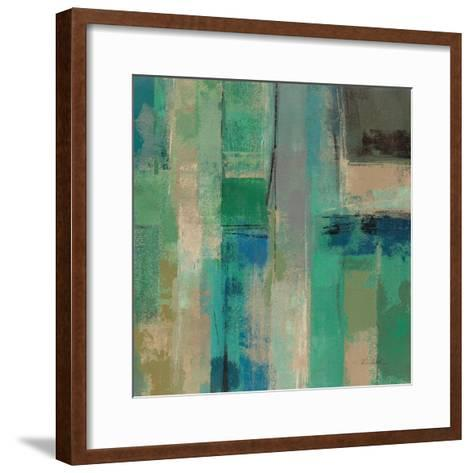 Emerald Fields Square II-Silvia Vassileva-Framed Art Print