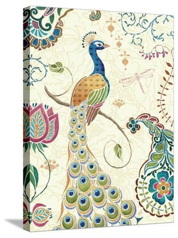 Peacock Fantasy II-Daphne Brissonnet-Stretched Canvas Print