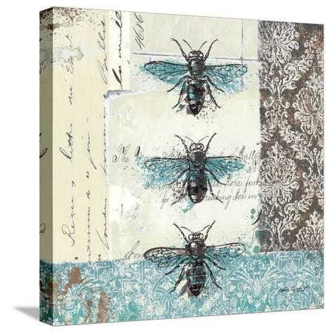 Bees n Butterflies No. I-Katie Pertiet-Stretched Canvas Print